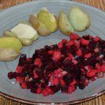 Pellkartoffeln mit Rote Beete-Apfel-Salat